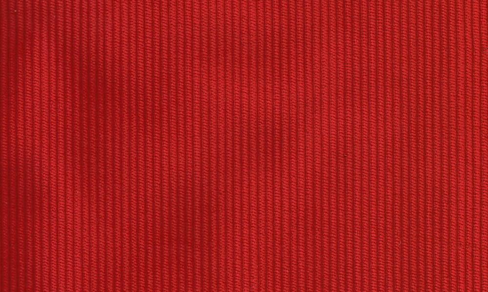 Fløjl Polyester-Bomuld Rød