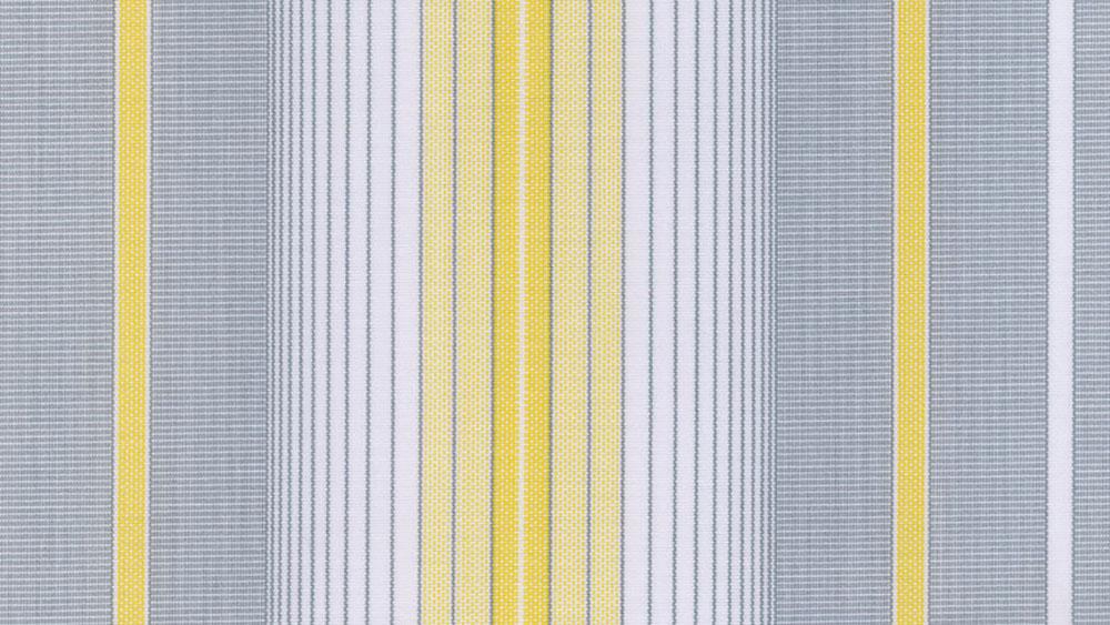 Grå gul multistribet markisedug, solafskærmning