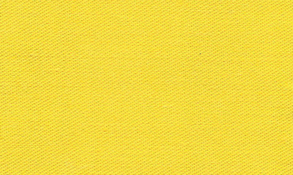 Polyester-Bomulds-Twill Gul