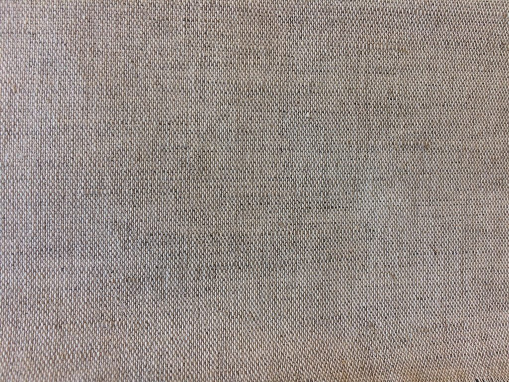 Hør-bomuldsdug hvid/natur Økotex