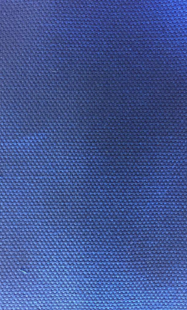 Bomuldscanvas koboltblå