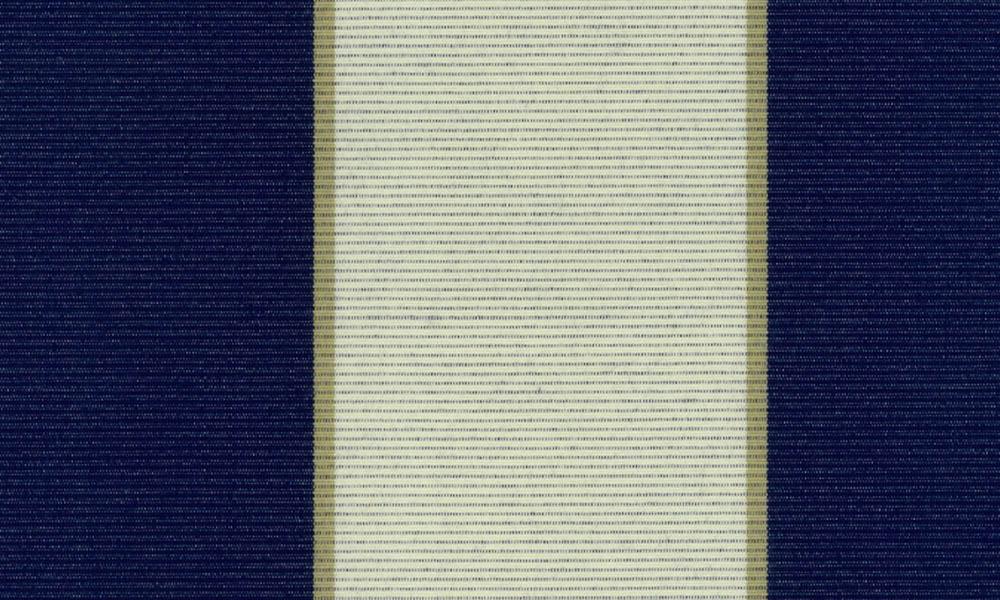 Blå hvid multistribet markisedug, solafskærmning
