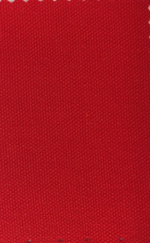 Bomuldscanvas rød