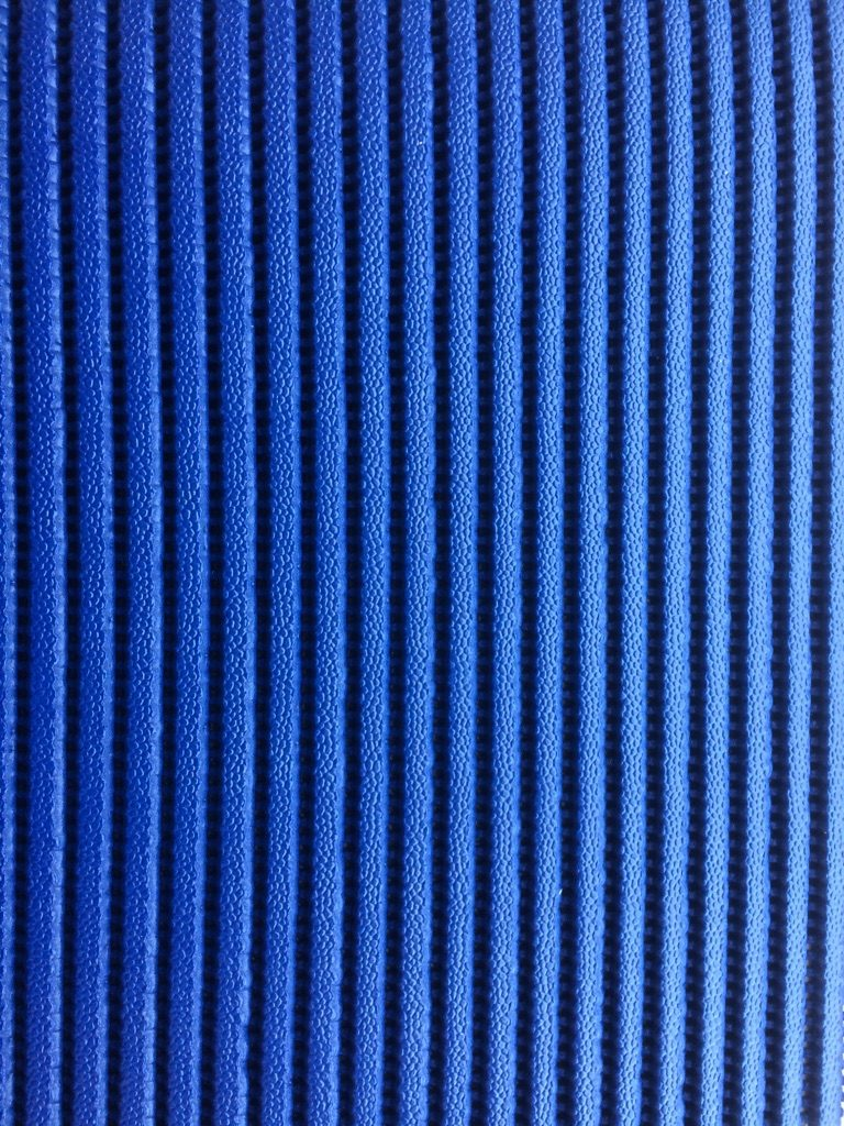 Skum- og fitness/måtte tæppe blå
