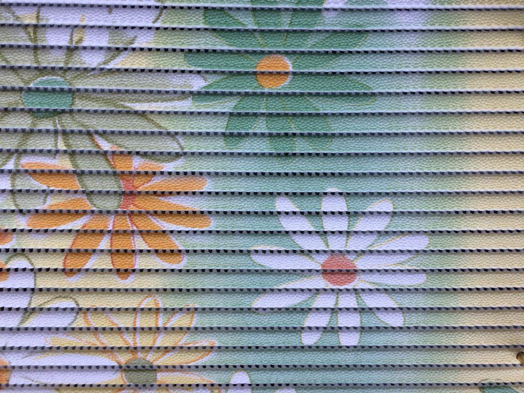 Skumtæppe grøn blomst