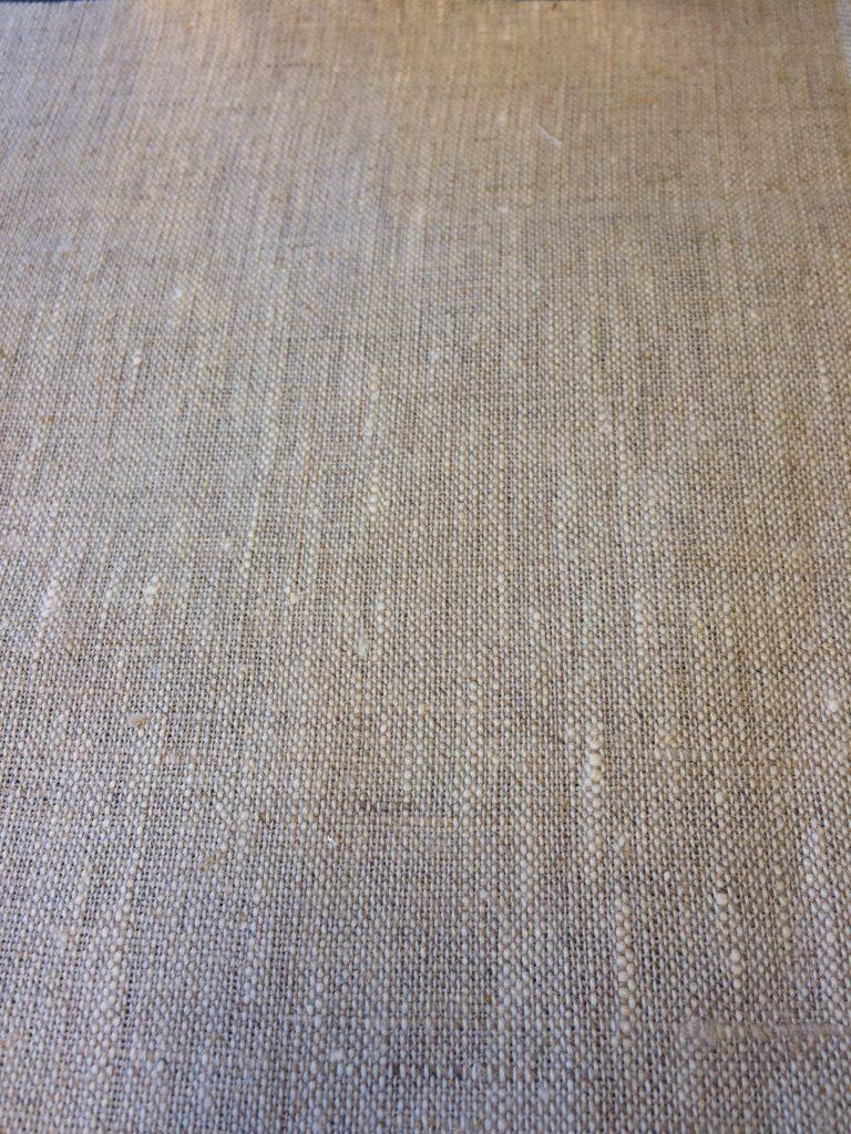 Hørlærred hvid/natur Økotex